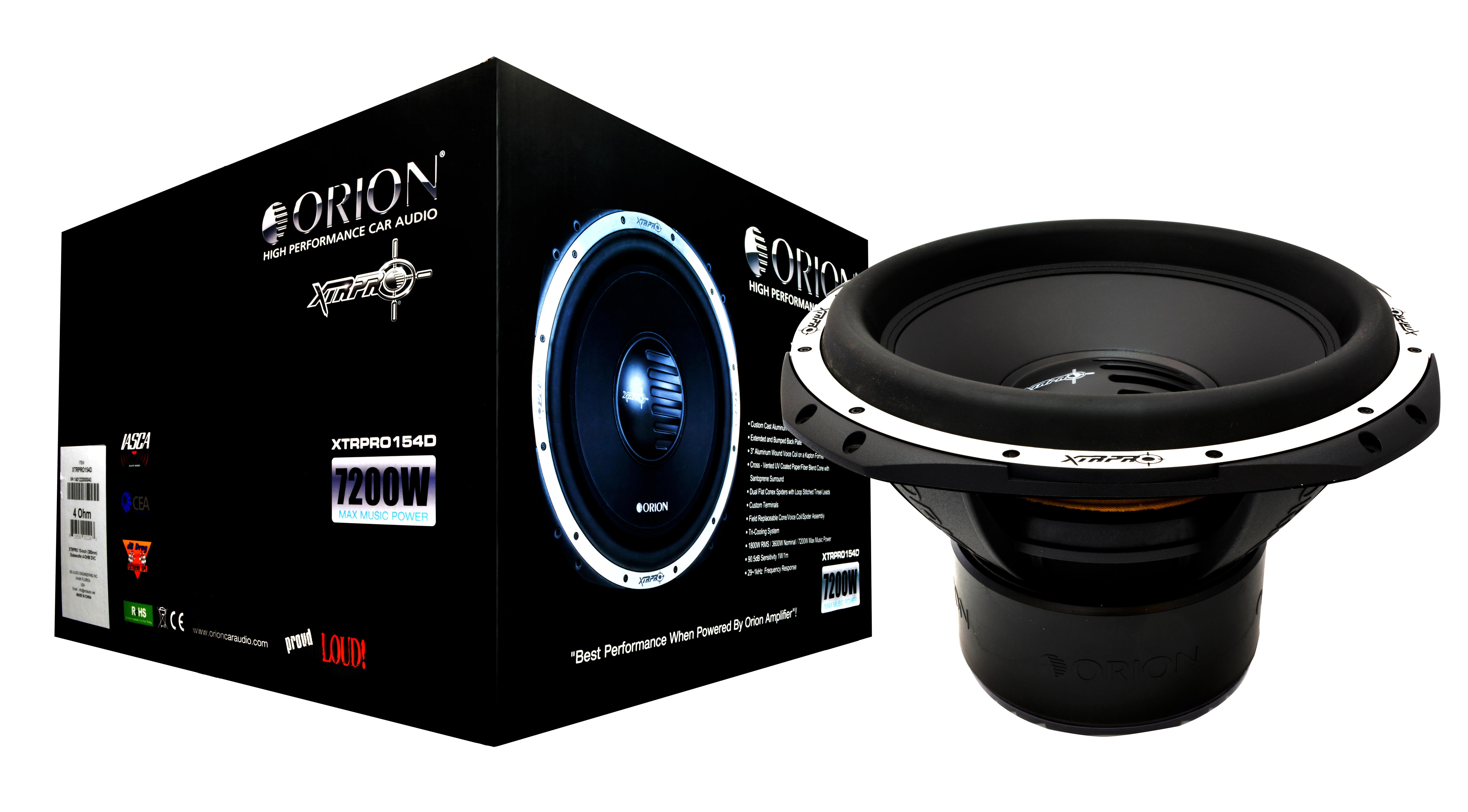 Pasmag Performance Auto And Sound Orion Xtrpro154d Woofer Review Xtr Subwoofer Wiring Xtrpro154 4