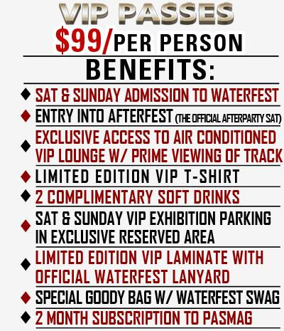PASMAG Waterfest 20th Anniversary Raceway Park Englishtown New Jersey July 19 20 2014 VIP Access
