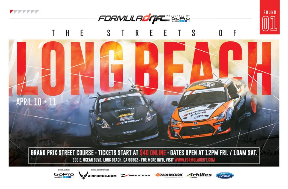 PASMAG Formula Drift Round 1 Streets of Long Beach CA April 2015 Flyer