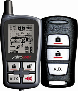 The AstroStart RSS-2524 features two-way communications with up to 2000 feet (0.6km!) of range, and can start your vehicle and send you both visual and audible confirmations via a four button LED transmitter.