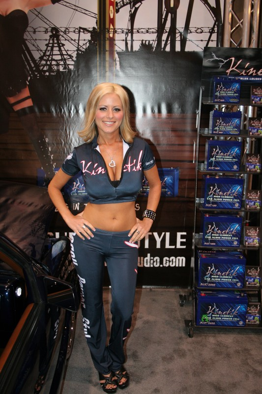 Kinetik always has the fresh-faced honeys to display their battery line at SEMA