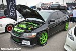 PASMAG - Import Face-Off In Baytown TX On Feb 9 2014 - Sunworks Black and Green Mitsubishi Lancer Evolution