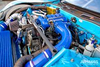 RE Amemiya Hurricane 1998 Mazda RX7 FD3S Engine bay wide shot
