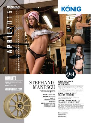 Konig Calendar Model: April 2015 - Stephanie
