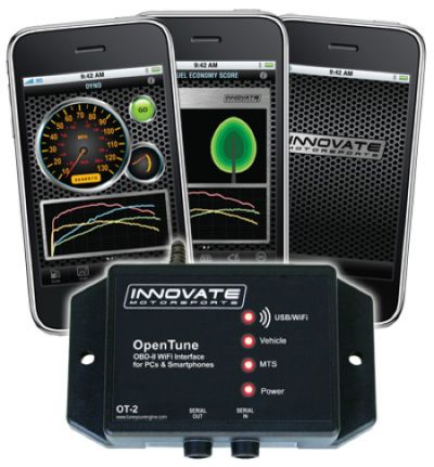 The Open Tune 2 (OT-2) is an ALL-IN-1 Performance Meter and OBD-II Code Reader is a new product from performance electronics company, Innovate Motorsports.