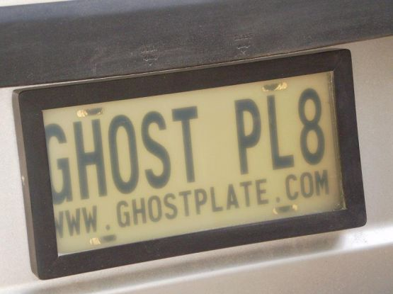 GHOSTPLATE plate privacy is just like James Bond. With the flip of a switch your license plate electronically becomes invisible.