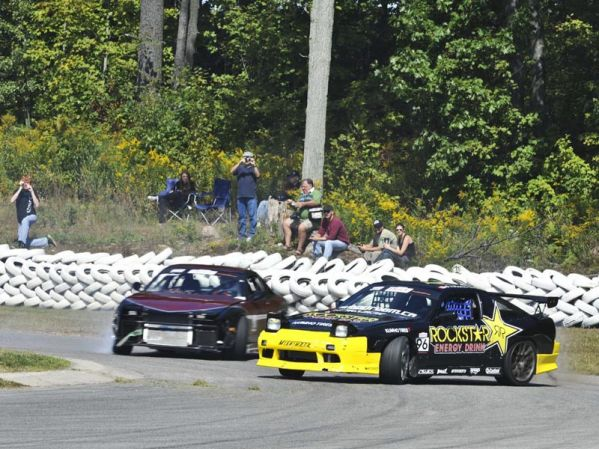 Held at the internationally renowned Mosport International Raceway, the track owners have attracted the Drift Mania series by paving the infield of their oval, which is next to the famous Grand Prix track.