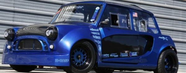 Owner Lyle Engleson of San Diego is obsessed with these cars and has built one every bit as modified as the highly successful Ireson bi-moto Mini, but with more functionality in mind. Engleson has converted this mini to a rear engine, rear wheel drive car for the improvement in handling.