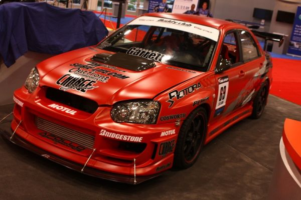 To demonstrate the new GTX series turbo, Garrett brought out this Time Attack STi