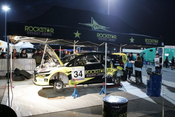 Foust prepping his car in anticipation of a big win...and it happened!