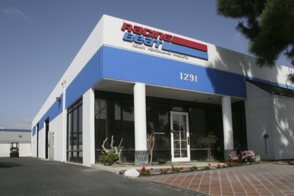 Racing Beat's entire operation is contained within two buildings located in Anaheim, CA. The larger, 11,000 sq. ft. building is home to the Sales and Administration staff, the Retail Sales Counter, finished-inventory warehousing and the Receiving/Shipping Departments.