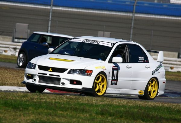 Roger Hocking has been a dominant force in the Enthusiast class at many of the events he attends and this round was no difference.  He piloted his Evo IX to a 1:50.598 which was good for 1st place overall in the Enthusiast Class as well as 1st place in Enthusiast AWD and a new track record for both!