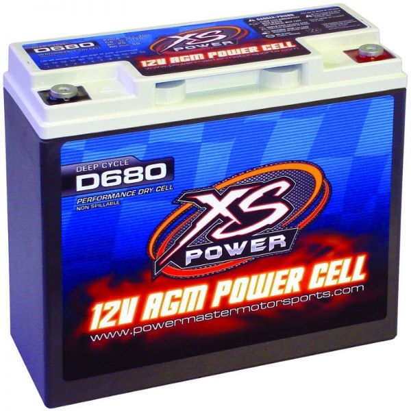 The lightest of the XS Power line is D375 racing battery, which features a hard plastic shell. Although this cell is only 12.24-pounds, there is a modified version with a metal case, the S375 that tips the scales at only 14-pounds flat. Measuring only 8x5.3x3.2-inches, this battery cranks 800A max, yet will easily slip in many places should it need to be relocated.