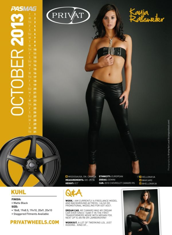 PASMAG - October 2013 15.07 - Calendar Model - Kayja Rassweiler LR