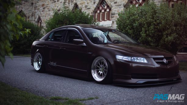 PASMAG Trending Tuner Battlegrounds Alexander Angers 2004 Acura TL Cimon B Photography corner right