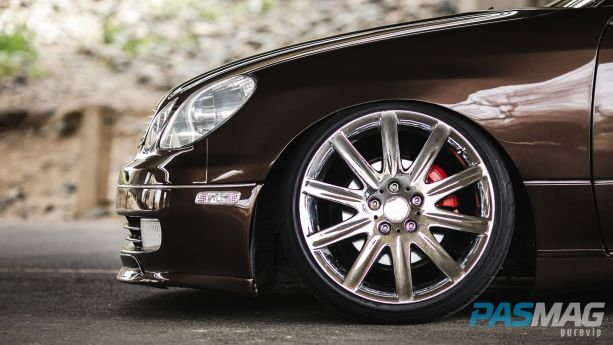 PASMAG Tuner Battlegrounds SPOCOM Jeff Isidro 1999 Lexus GS300 PureVIP front wheel