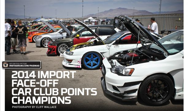 2014 Import Face-Off Car Club Points Champions (Photo by Cliff Wallace)
