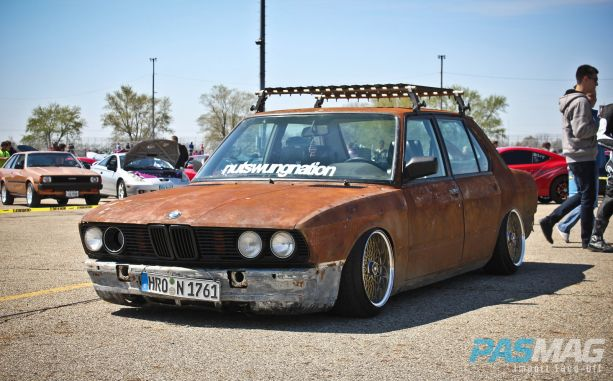 PASMAG Trending Rat Rod Style Rust BMW E28 Import Faceoff Front