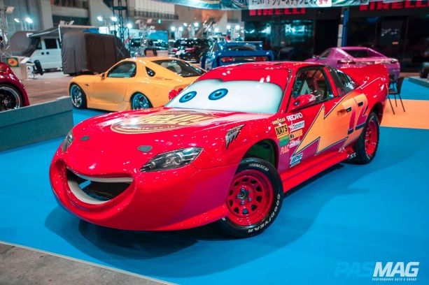 Lightning Mcqueen from Disney's 'Cars' looks like pure american muscle, but it's based on a 200SX.