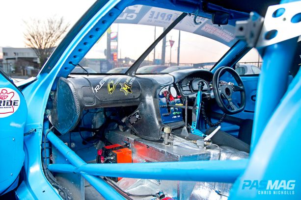 RE Amemiya Hurricane 1998 Mazda RX7 FD3S Interior wide shot