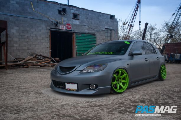 2014 Tuner Battlegrounds #TBGLIVE Winner @ Niagara TNT Expo: Ryan Schmidt, 2006 Mazda3 (Photo by Giancarlo Pawelec / AutoMotoFoto