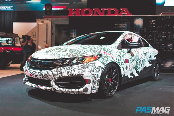 Honda repping the HPD Civic Street Perforrmance Concept.