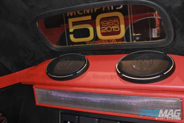 PASMAG CES 2015 Memphis Car Audio 50th Anniversary 1949 Crosley Business Coupe Restoration Subwoofers rear panel