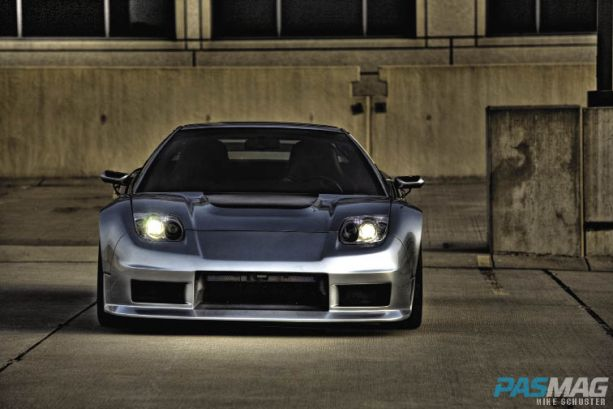 PASMAG Ron Warnick 1991 Acura NSX CompTech AEM Volk Racing Bridgestone Brembo JDM JL Audio Alpine Kinetic front