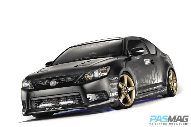 pasmag sony 2011 scion tc five ad seibon front