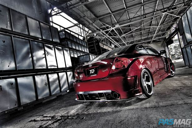 PASMAG 2005 Scion tC Cynce Tester Red Alert Dezod AIT Racing Hart Toyo rear