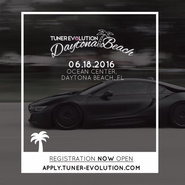 Tuner Evolution Registration Daytona Beach 2016