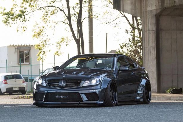 Liberty Walk LB WORKS Mercedes Benz C63 Coupe Wide Fender Body Kit Nextmod