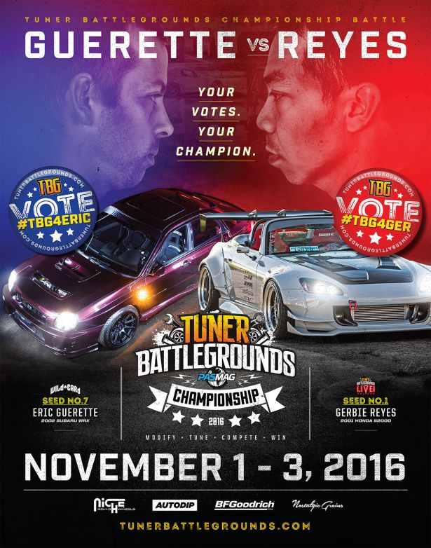 Tuner Battlegrounds 2016 Championship Poster