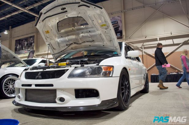 PASMAG Motorama Harrisburg Pennsylvania 2014 Dante Damanti Mitsubishi Lancer Evolution House Of Power Front