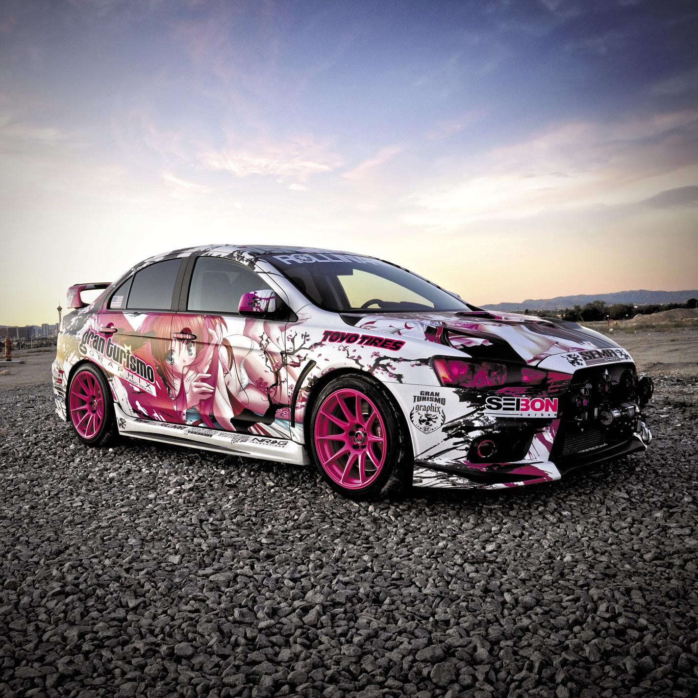 Mitsubishi Lancer Evolution 10: PERFORMANCE AUTO AND SOUND - Pretty In Pink