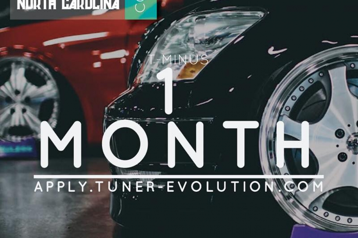 Tuner Evolution: Charlotte, North Carolina 2015 is 1 Month Away