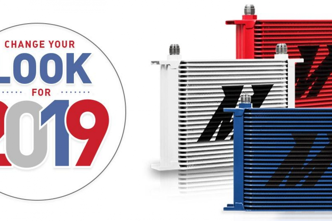 Change Your Look For 2019 with Mishimoto's Red, White, and Blue Oil Coolers