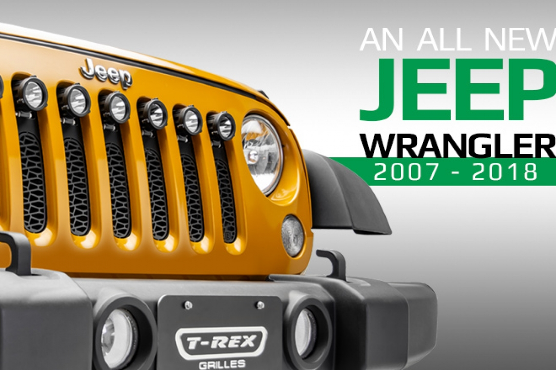 T-REX Lights Up The 2007-2018 Jeep Wrangler JK with Four All New Grilles and Built-In LEDs