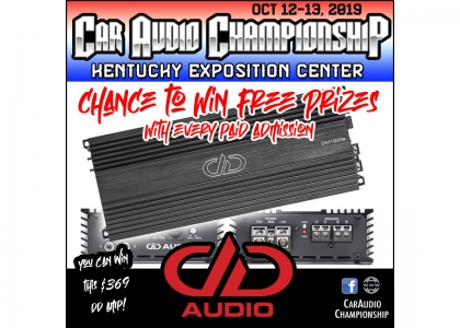 DD Audio Giveaway at Car Audio Championship