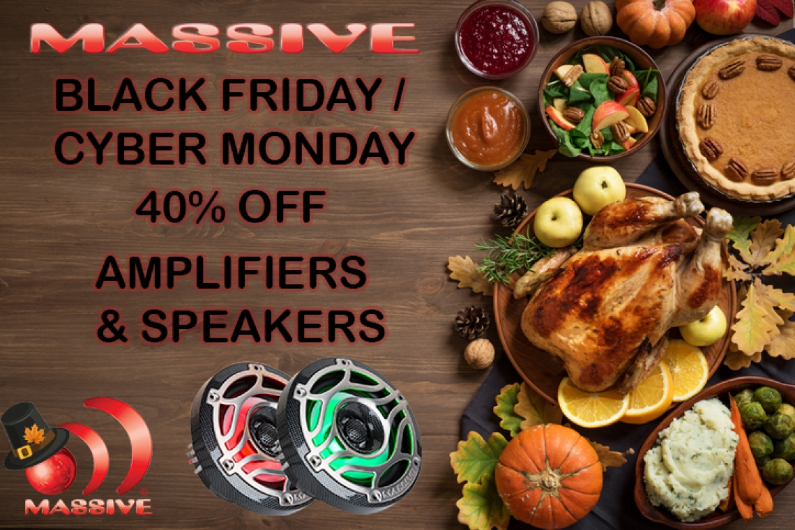 Massive Audio's Black Friday Mega Sale
