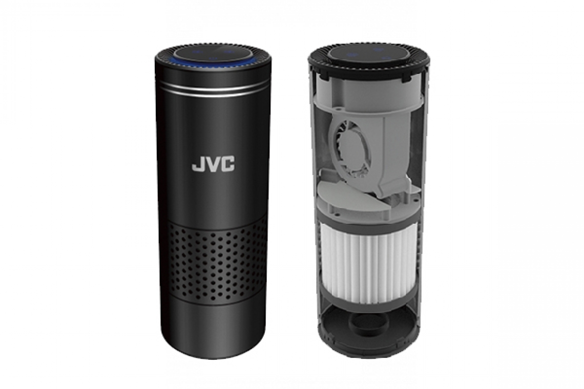 JVC Introduces HEPA Filter Air Purifier With 3-Stage Filtration Portable For The Car Cup Holder
