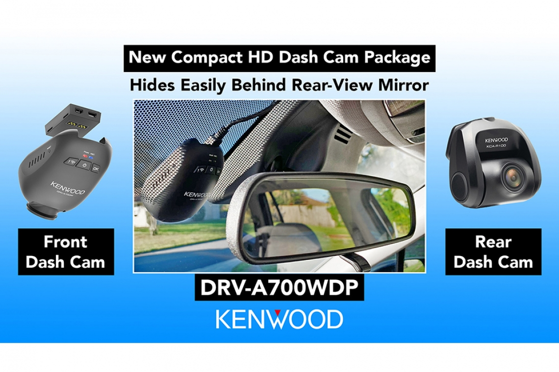 CES 2020: KENWOOD Debuts a Compact, Screenless HD Dual Dash Cam System