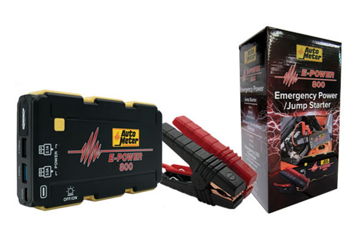 AutoMeter Introduces the E-POWER 800 Power Pack: The Ultimate Handheld Jump Start Kit