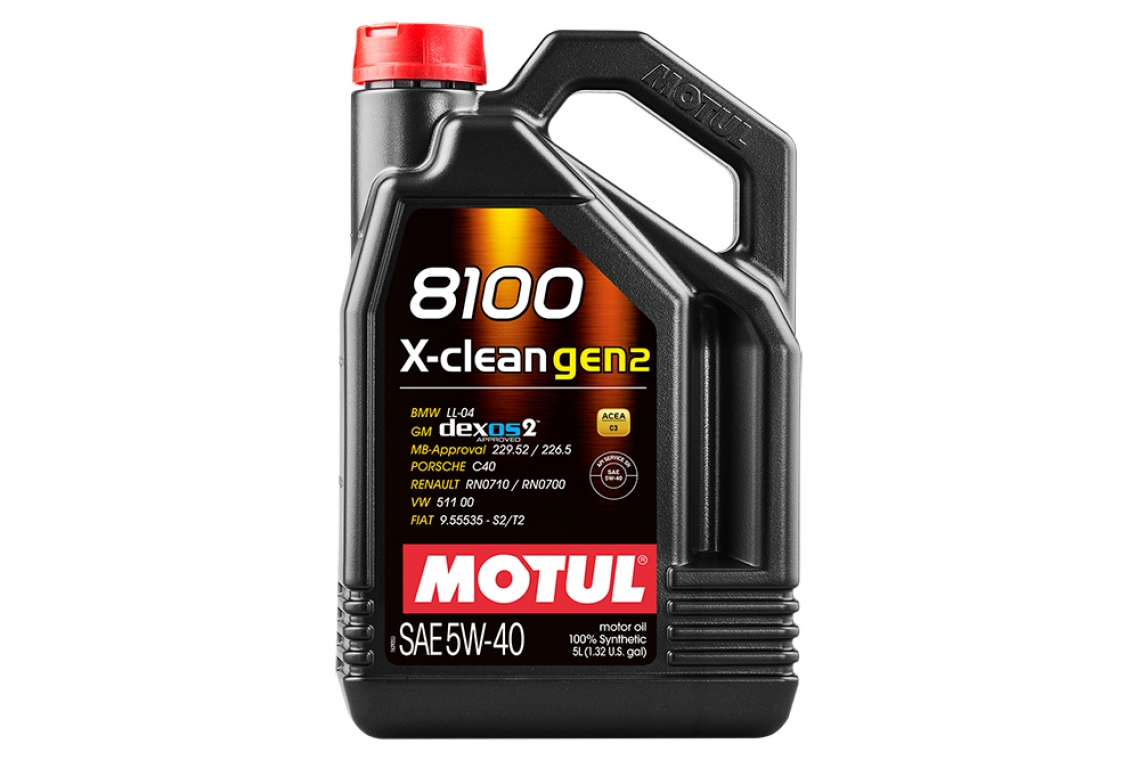 Motul 8100 X-Clean 5W40 GEN2 Synthetic Oil