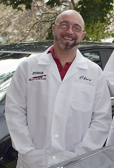 Chris Zenner in lab coat