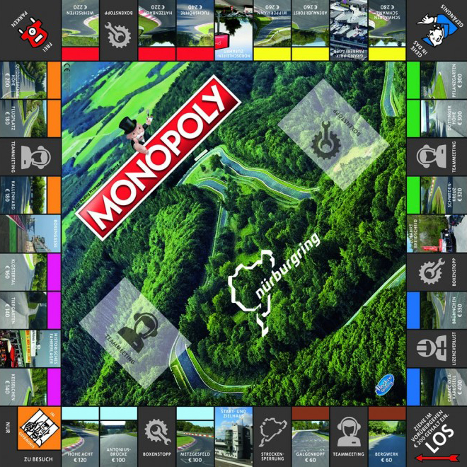 Monopoly Nürburgring 2nd Edition layout pasmag