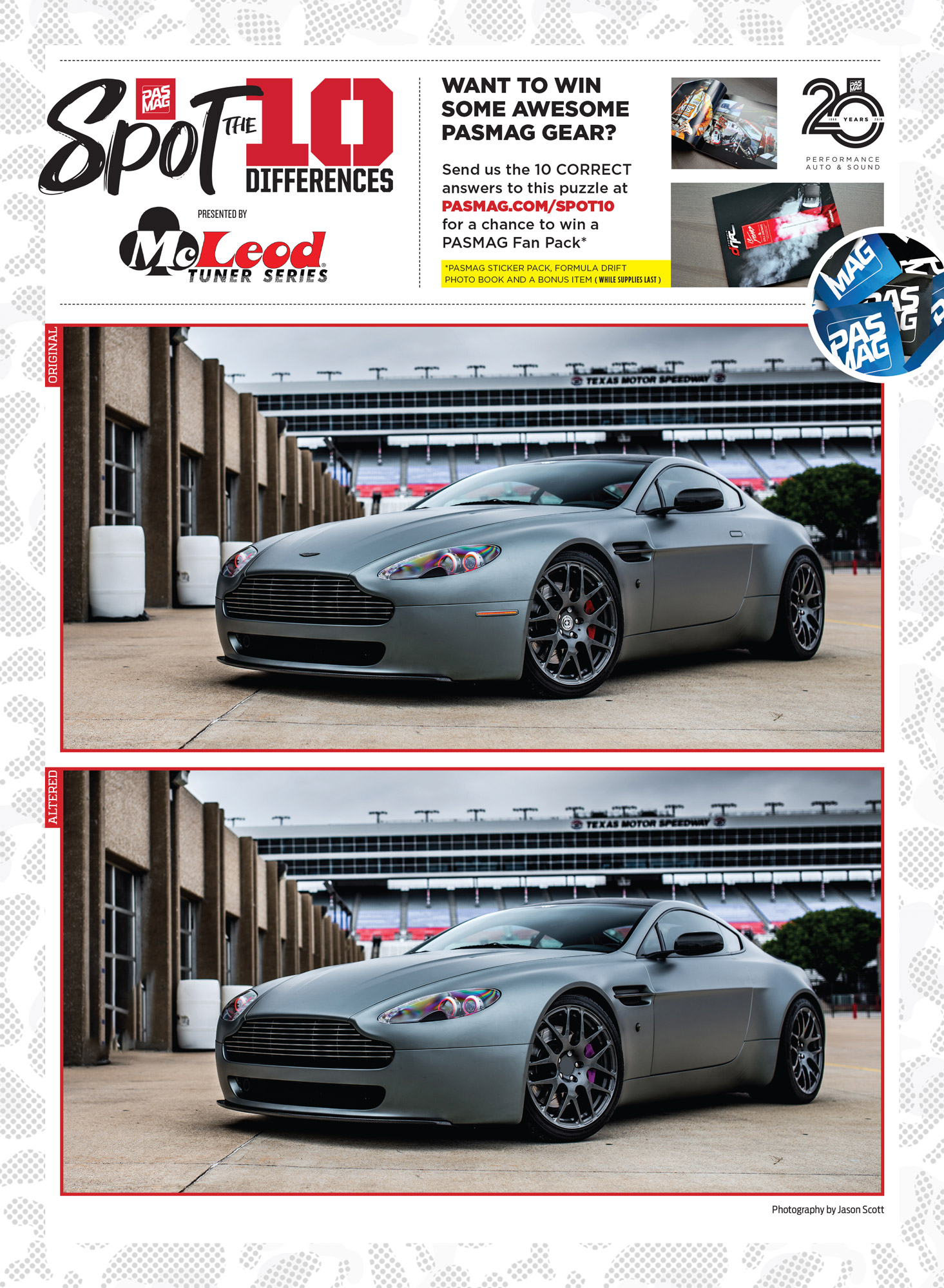 PASMAG Spot the Differences Apr 15 2020 Oracle Lighting Aston Martin ESX Supervantage