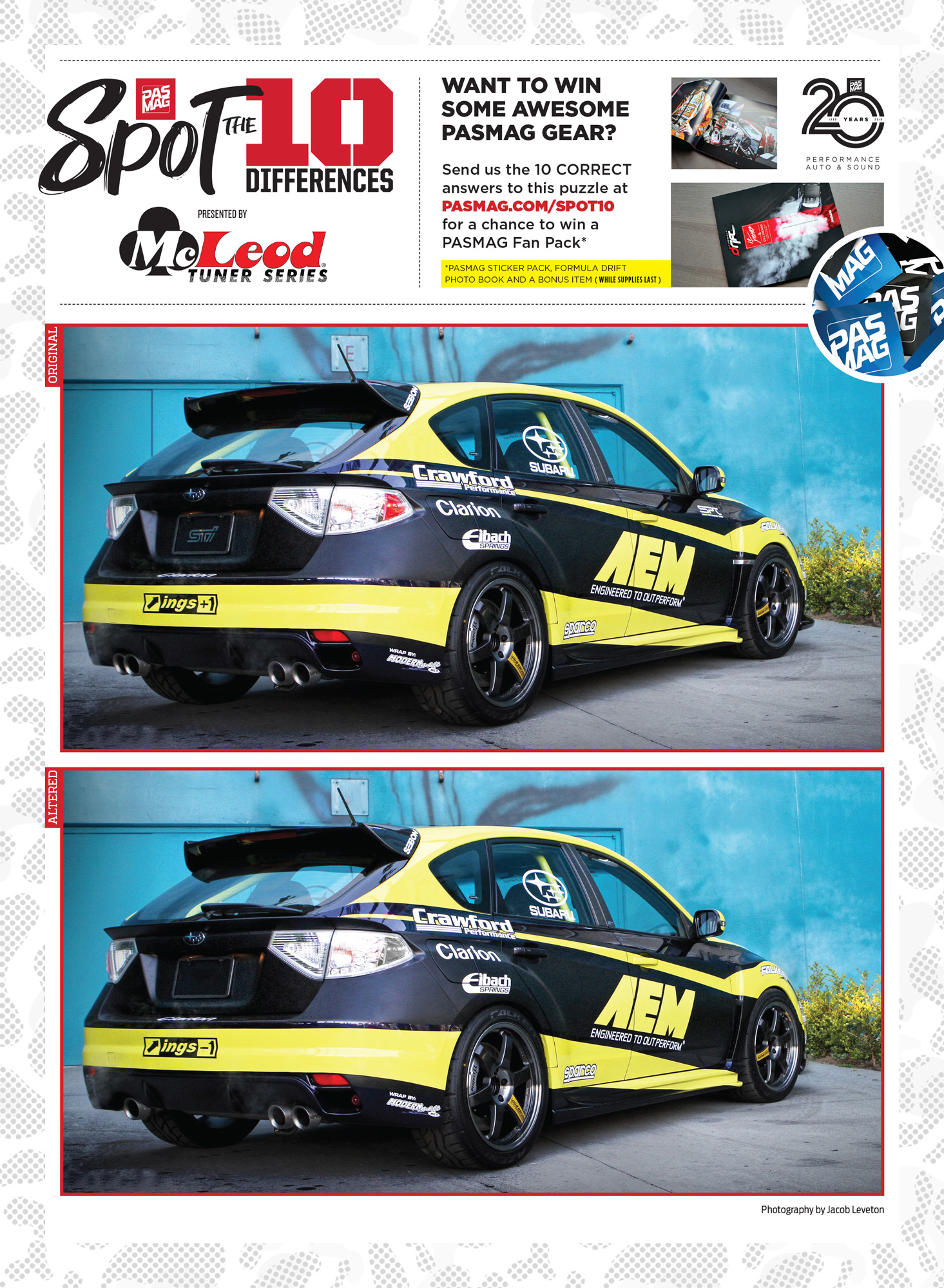 PASMAG Spot the Differences June 12 2020 AEM Clarion 2008 Subaru WRX STI pasmag