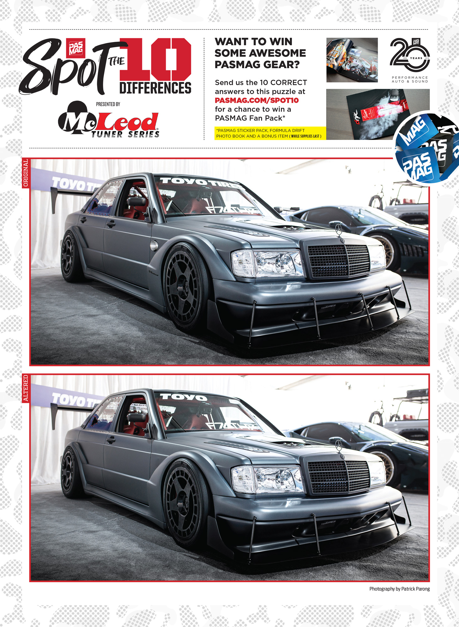 PASMAG Spot the Differences May 1 2020 Tim Lajambe f7lthy Mercedes 190E